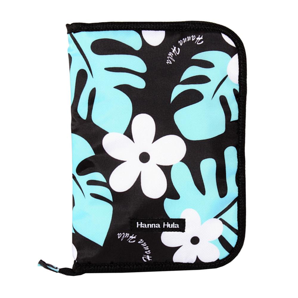 日本Hanna Hula-多用途手冊包-親子手冊/健保卡等(花葉黑)