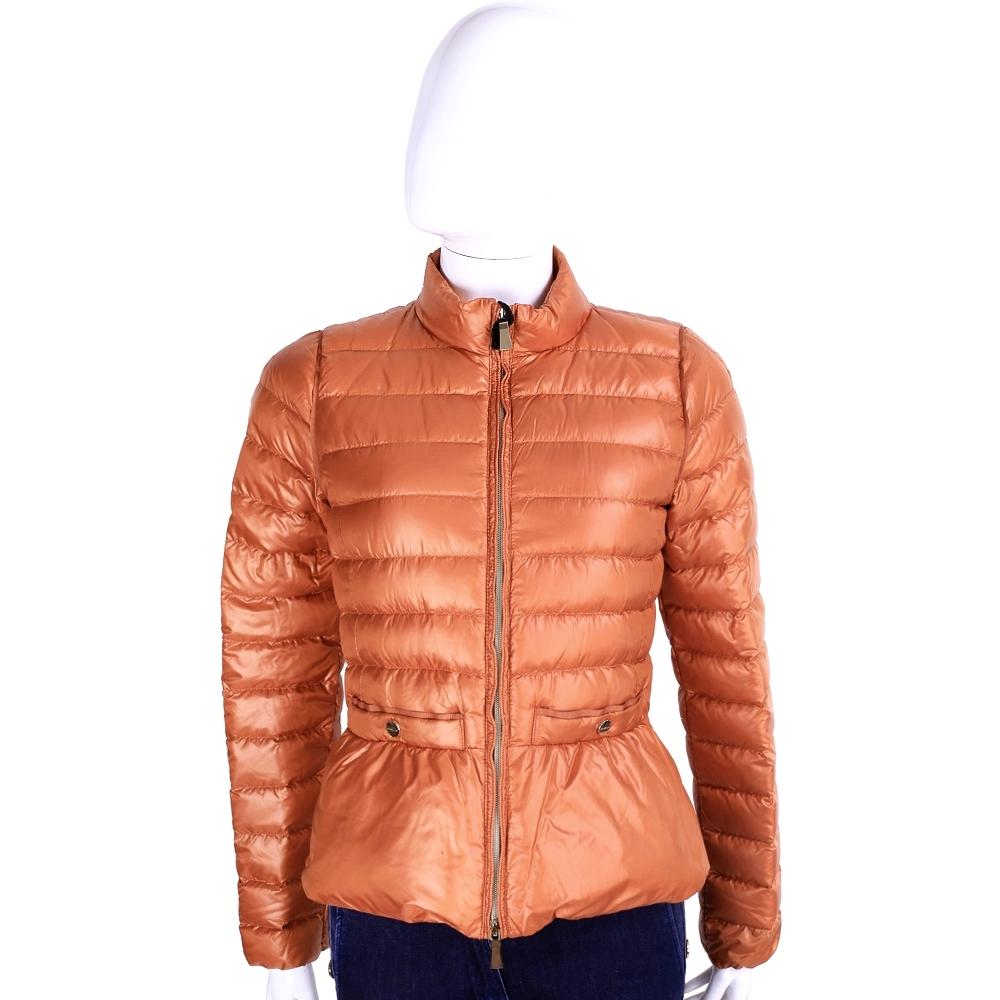 MARELLA-SPORT 橘色車縫設計羽絨外套