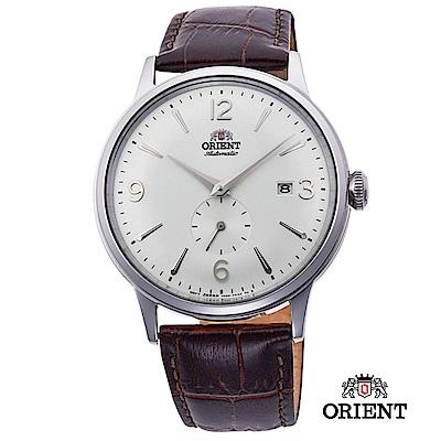 ORIENT 東方錶 DATEⅡ機械錶 銀框白面 皮帶款 -40.5mm