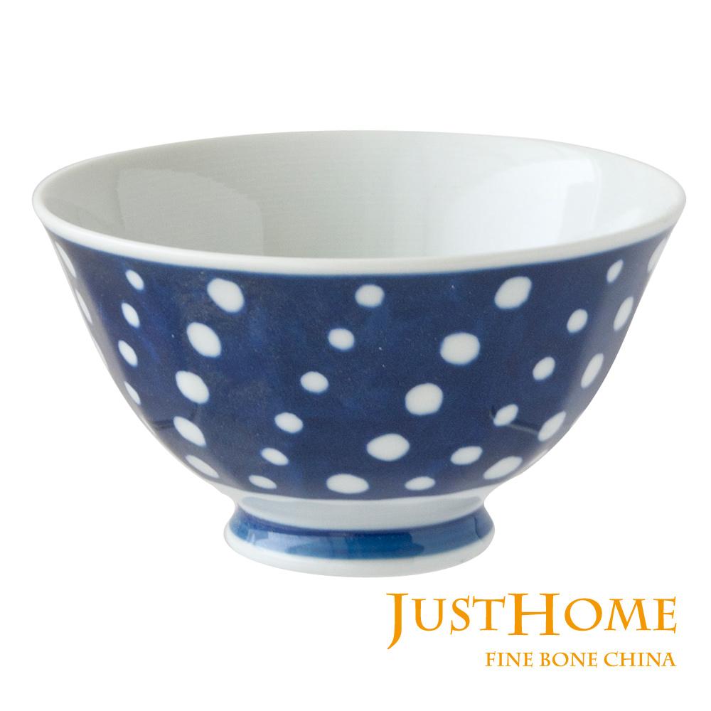 Just Home 日本製湛藍陶瓷飯碗5件組