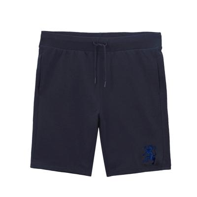 GIORDANO 童裝鬆緊腰純棉刺繡圖案休閒短褲 - 92 標誌海軍藍