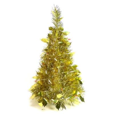 2尺(60cm)創意彈簧摺疊聖誕樹(金色系)
