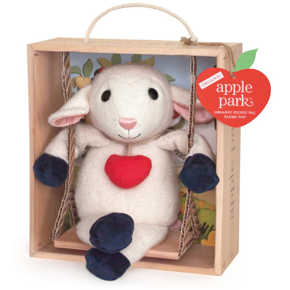 美國 Apple Park 盪鞦韆玩偶彌月禮盒 - 小羊