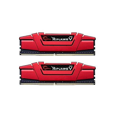 芝奇 G.SKILL RipjawsV DDR4 3000 8GBx2 超頻記憶體(紅)
