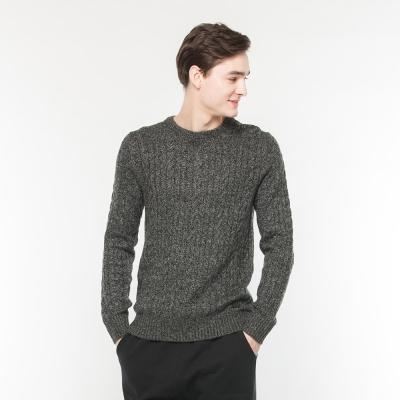 Hang Ten - 男裝 - 素色混紡羊毛上衣 - 深灰