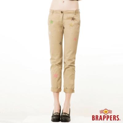 BRAPPERS 女款 Boy Friend Cargo系列-女用九分反摺褲-卡其