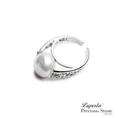 大東山珠寶 珍珠純銀戒指巴洛克 夢幻月光