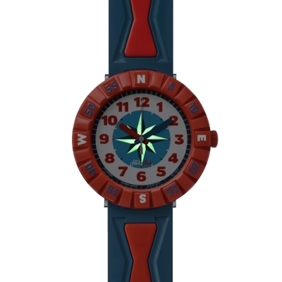 FlikFlak 兒童錶 GET IT IN BRED 藍紅酷勁手錶