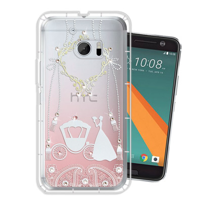 WT HTC 10 / M10 奧地利水晶彩繪空壓手機殼(精靈捧花)
