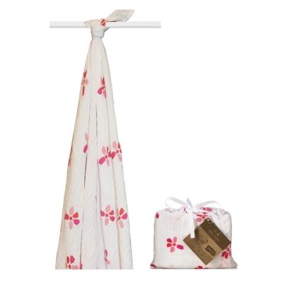 美國 aden+anais新生兒有機棉包巾-花兒盛開系列(1入)AA9101