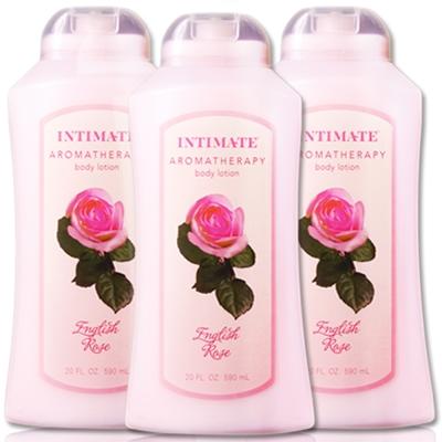 美國Intimate茵她美英倫玫瑰保濕潤膚乳液590ml三入