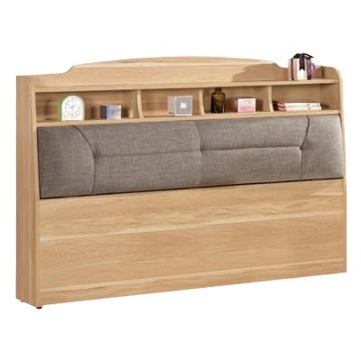 愛比家具 德奈5尺雙人書架型床頭箱