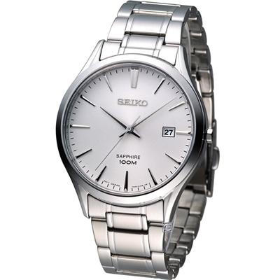 SEIKO 紳士經典時尚腕錶(SGEG93P1)-銀/40mm