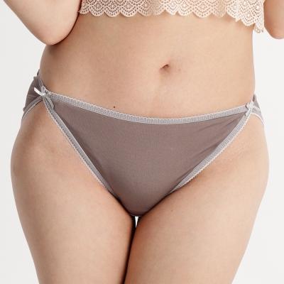內褲 舒適透氣100%蠶絲中低腰三角內褲 (灰) Chlansilk 闕蘭絹