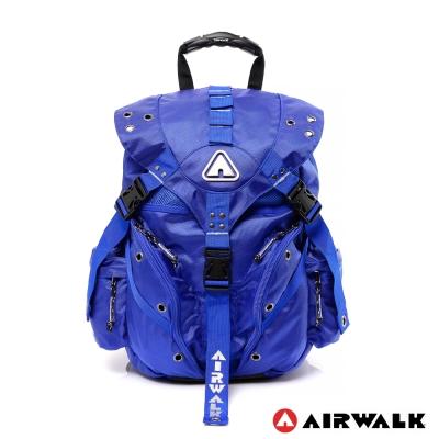 AIRWALK-Life-is-color-繽紛生活三叉扣彩色後背包-王子藍