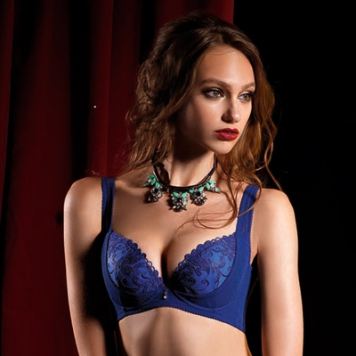 LADY 燦亮星影系列 E-F罩 機能調整型內衣(光影藍)
