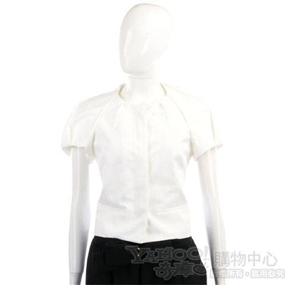 KENZO 白色抓摺短袖外套