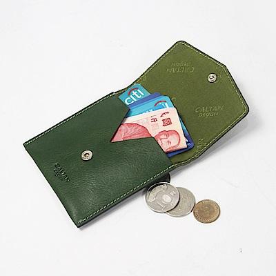 CALTAN-零錢袋 小方包 牛皮 真皮小物 零錢包 女包 女用-2188cd-綠