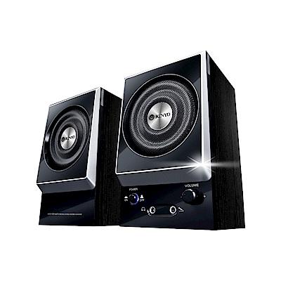 KINYO 二件式黑色木質喇叭KY-1007