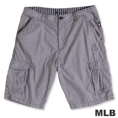 MLB-紐約洋基隊六口袋直紋短褲-黑(男)