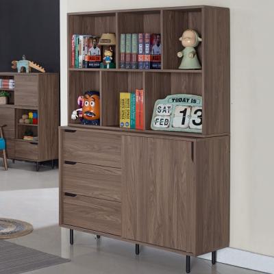 Homelike 克拉4尺收納書櫃-121x40x175cm