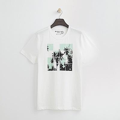 Hang Ten - 男裝 - 有機棉 清涼夏日印圖-白色