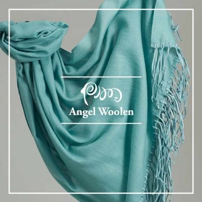 Angel Woolen引領時尚Pashmina鑽石紋印度手工流蘇披肩圍巾(共兩色)