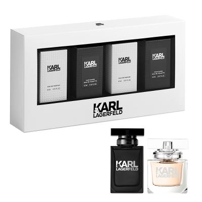 KARL LAGERFELD 同名時尚小香組(女香4.5mlx2+男香4.5mlx2)