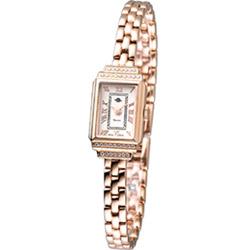 Rosemont 骨董風玫瑰系列迷你時尚腕錶-白/玫瑰金/15mm (TRS015-05)