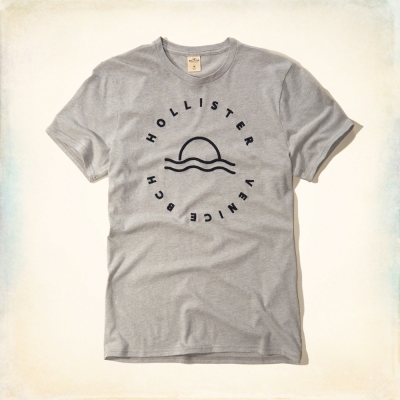 Hollister HCO 短袖 文字T恤 灰色 002
