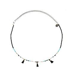 Pura Vida 美國手工 黑色流蘇 彩色串珠頸鍊