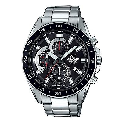 EDIFICE 都會城市沉穩風格計時概念指針腕錶(EFV-550D-1)黑面/47mm