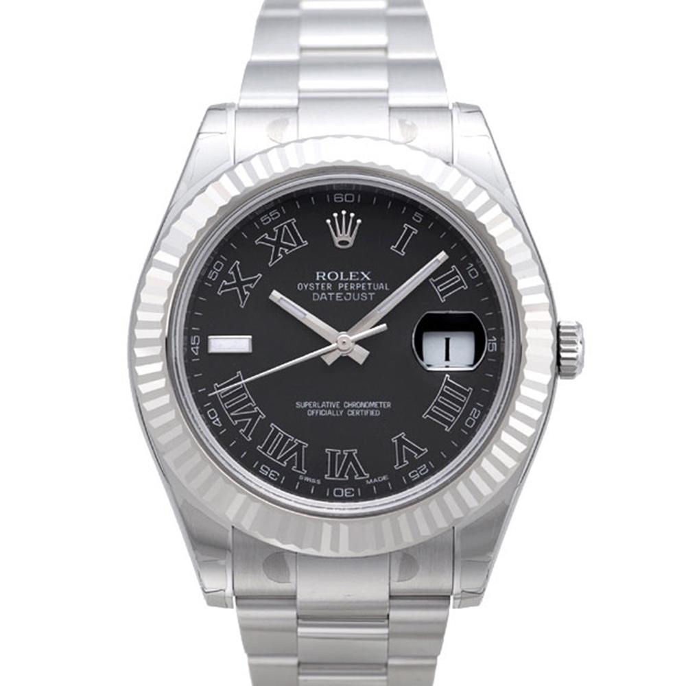 ROLEX 勞力士 DatejustII 116334 蠔式恒動日誌型男腕錶-黑羅馬/41m