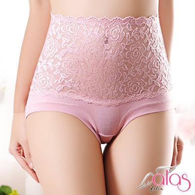 高腰內褲 輕吻刺繡薄柔女性內褲 (粉色) alas