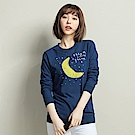 101原創 moon長袖T-曠藍