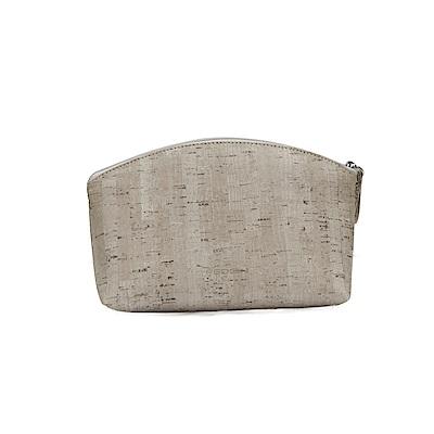 FEDON 1919 Cork 質感軟木拉鍊化妝包 灰