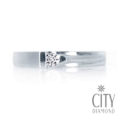 City Diamond引雅【Vintage系列】-8分鑽石戒指-DR12417
