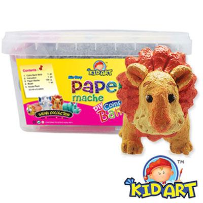 【KID ART】美國創意手作黏土-紙黏土(咖啡獅)