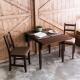 CiS自然行-雙邊延伸實木餐桌椅組一桌二椅74x122公分焦糖+咖啡椅墊