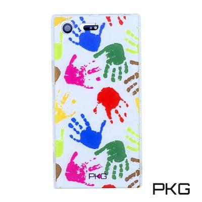 PKG SONY XZ Premium彩繪空壓氣囊保護殼-浮雕彩繪-繽紛手掌