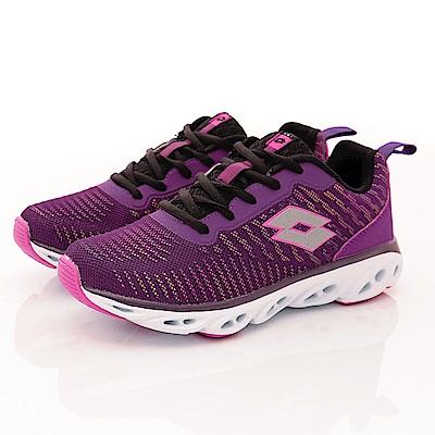 Lotto樂得-反光風洞跑鞋-RSI257紫(女段)