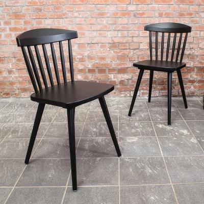 Bernice-巴克實木黑色餐椅(四入組合)-46x49x77cm