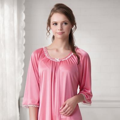 羅絲美睡衣 - 親密愛人七分袖褲裝睡衣(亮粉色)