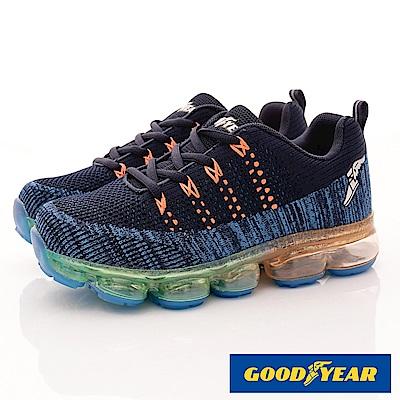 GOODYEAR戶外童鞋 緩震氣墊運動款 EI1016 藍 (中大童)