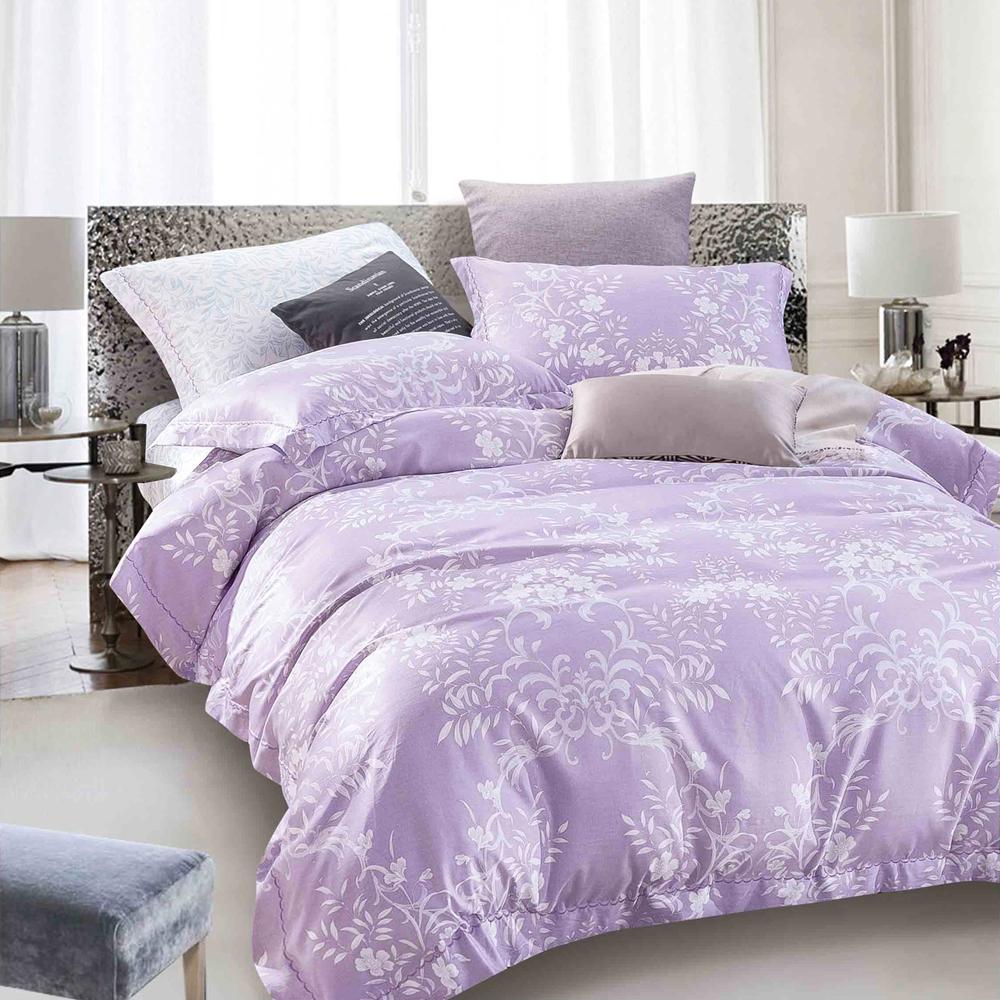 Ania Casa 輕語-紫 原廠天絲 採用3M吸溼排汗專利-單人鋪棉兩用被床包組