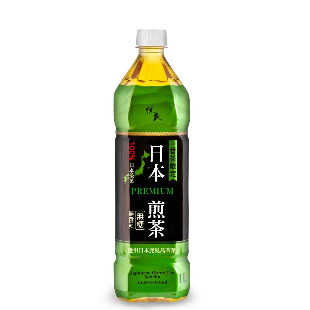 悅氏 日本煎茶(1000mlx12瓶)
