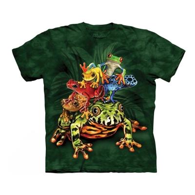 【摩達客】美國進口The Mountain 青蛙群  純棉環保短袖T恤