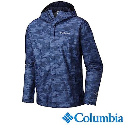 Columbia哥倫比亞 男款 OT 防水外套藍色迷彩 (URE10010ZC)