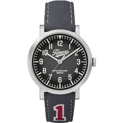TIMEX 天美時復刻University系列學院風手錶-黑x灰/42mm