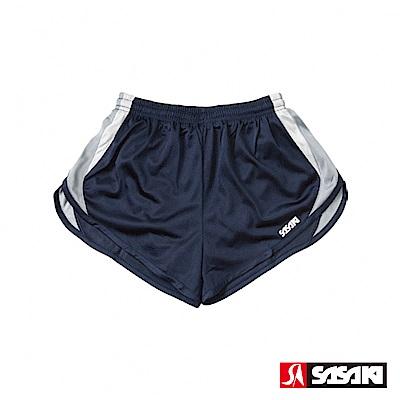 SASAKI 吸濕排汗田徑短褲-女-丈青/灰/白